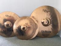 "Sabian Pro Sonix cymbal set - 20"" Ride / 16"" Crash / 14"" Hi Hats"