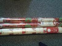 3x new xmas 4m wrapping papers £1