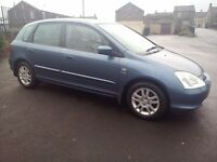 Honda Civic 1.6 Petrol Full Leather Heated Seat Full 12 Months Mot Superb Drives Bargain Price