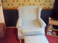 armchair plus matching foot stool