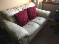 FREE - cream leather sofa available immediately
