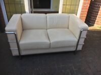 Two seater leather sofa, VGc could deliver