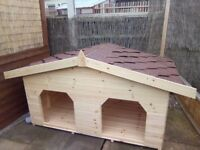 Double dog kennel ( more than one dog? Buy this model get the yard kennel half price)
