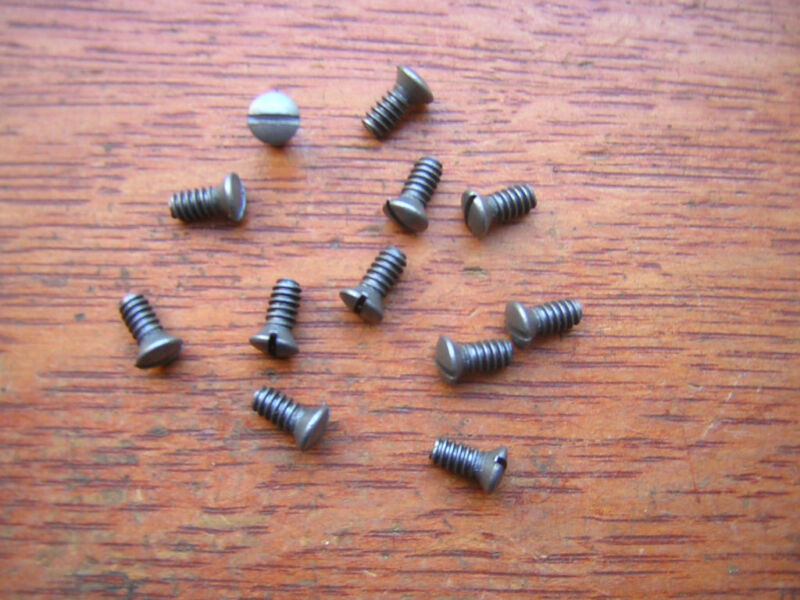 Twelve New Steel Door Knob Screws For Antique Doorknobs