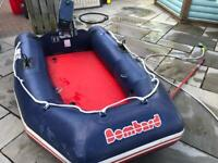 Bombard 3m inflatable tender for yacht with 3HP Yamaha. Malta 2 stroke
