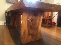 solid wood live edge slab table, handmade in Bali RRP£5000