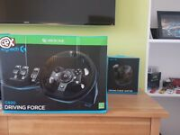 Logitech G920 racing wheel (Xbox One and PC). Driving force Shifter included. Barely used