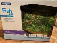 Interpet Fish Pod Glass Aquarium/Fish tank 64L with LED lights
