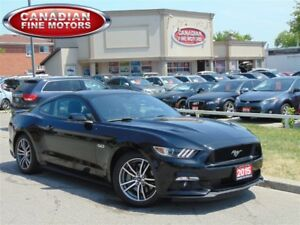 2015 Ford Mustang GT-8CYL-LEATHER-CLEAN CARPROOF-BLK/BLK