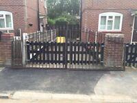 14ft designed iron driveway gates