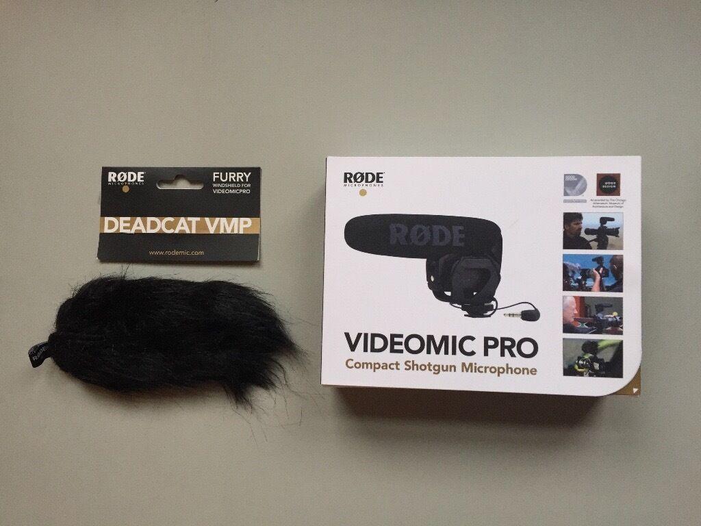 RODE VideoMic Pro - compact shotgun microphone.