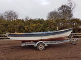 Devon Lugger 19ft GRP sailboat
