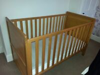 Cot Bed Solid Pine