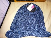 Joblot of 10 BLUE winter women's hats - Other colours are available