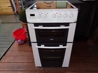 ZANUSSI CERAMIC ELECTRIC COOKER 50 CM DOUBLE OVEN LIKE NEW