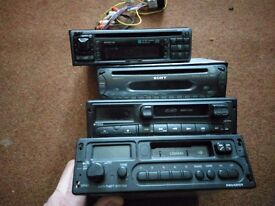 Selection of old car stereos spares or repairs