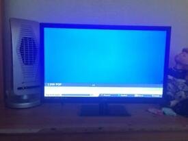 24 inch tv only used a handful of times. Built in free view and USB port and hdmi