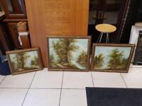 3 oil paintings on canvas by T Goodson-these are worth a lot of money now as he's dead now £125
