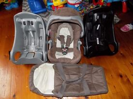 Carry cot car seat 2 car iso fixs