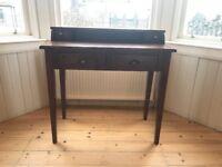 Writing Desk/Dressing Table; Dark wood, lightly distressed.