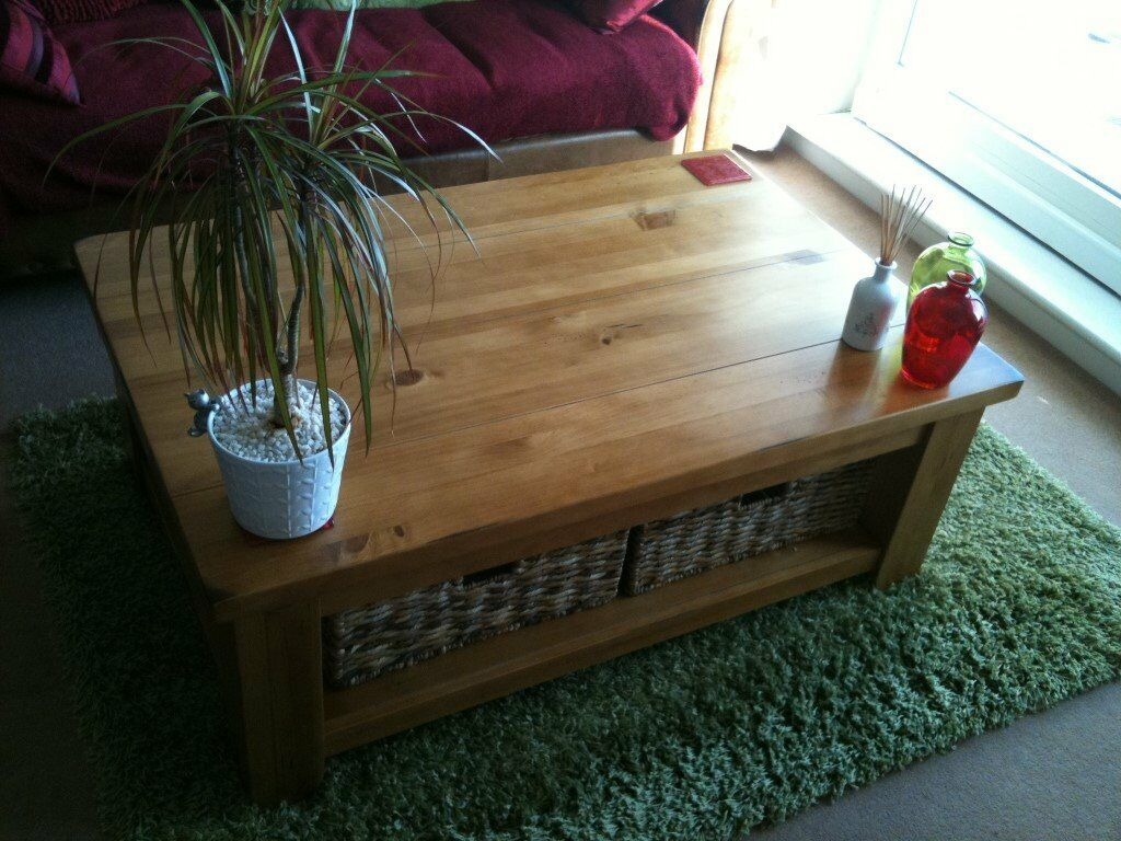 distressed pine living room furniture x 4 pieces from next