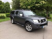 **NO VAT**Nissan Navara Double Cab Pickup with Canopy 62plate