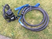 Submersible dirty water pump 250watt with hose