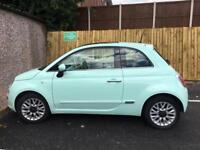 Mint Green 2014 Fiat 500