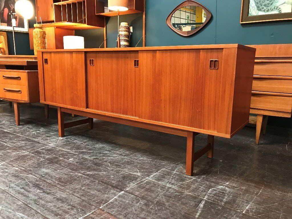 Credenza Industrial Ikea : Ikea vintage mid century sideboard with sliding doors