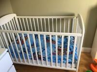 Mamas and Papas white cot