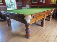 Superb Full Size Snooker Table with Free Delivery and Installation and fitted with Brand New Cloth