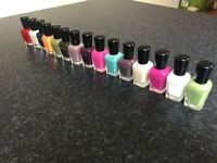 Zoya Nail Polishes. Various colours. Most colours have not been used.