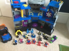 Imaginext Batcave and extras