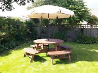 Garden Table with seating for 8