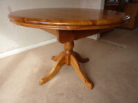 Corndell Solid Pine dining room table and chairs