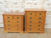 2 Satin wooden chests (Delivery)