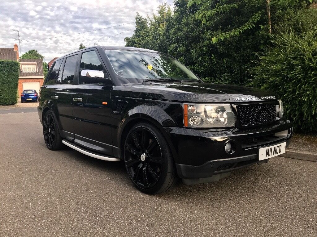 range rover sport 2 7 diesel 22 black stormer alloy wheels sat nav side steps heated. Black Bedroom Furniture Sets. Home Design Ideas