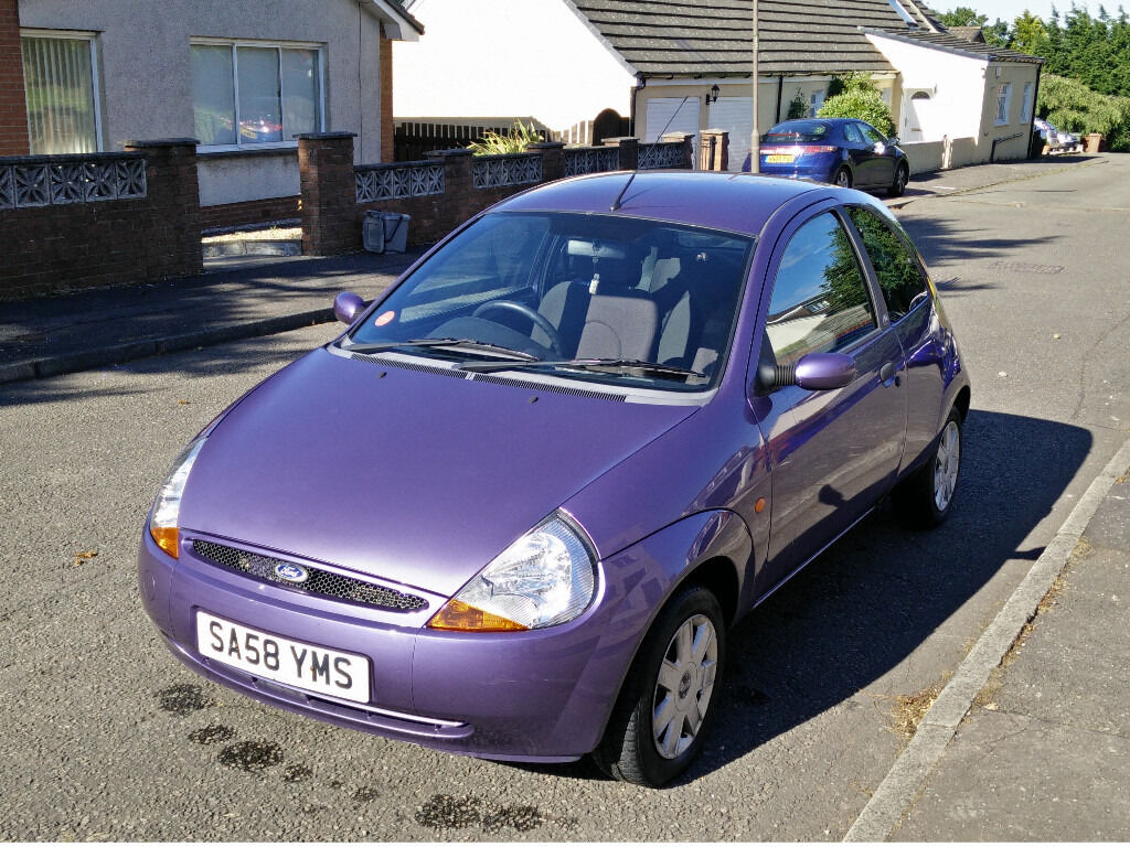 Purple Ford Ka  Plate