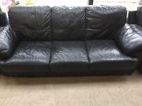 3 Piece DFS Leather Couch