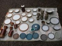 JOB LOT OF POOLE POTTERY 60 PIECES PLATES SAUCERS JUGS CUPS