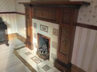 Original Victorian Fire Surround with Beautiful Carvings: Perfect for Glasgow Tenements!