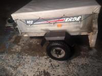 Erde trailer. Camping trailer. D.i.Y trailer.