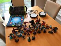 Skylanders bundle, 34 characters, 3 Wii games, storage bag and 2 portals