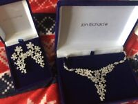 Jon Richard necklace and earrings brand new
