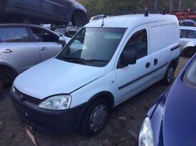 Vauxhall combo 1.7 cdti panel van 5 door white 2001-2011 indicator breaking