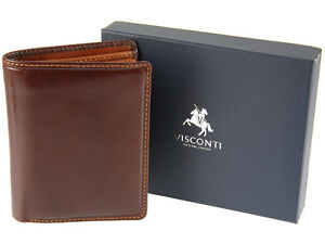Visconti Torino Upright Genuine Veg Tan Luxury Leather Wallet For Men - TR33