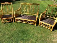 3 piece rattan conservatory suite