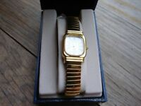 Ladies Avia gold plated watch