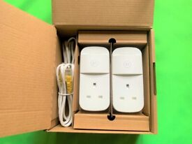 BT MINI CONNECTOR KIT 087372 Twin Powerline Plugs in Original Box with 2 Ethernet Cables