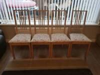 4 Dining chairs ikea